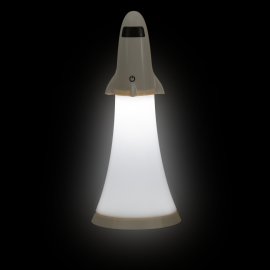 Rocket lamp bedside lamp with rechargeable LED torch
