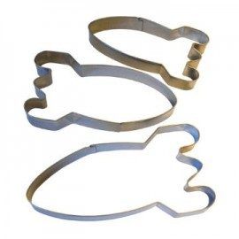 Spaceboy 3 piece cookie cutter set
