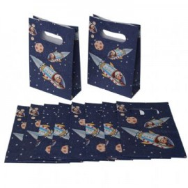 Spaceboy party invites and bags