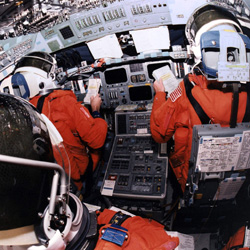 space shuttle cockpit takeoff - photo #2